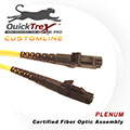 4 meter MT-RJ to MT-RJ, 9/125, Singlemode Duplex Patch Cable - Plenum Rated - USA CustomLine by QuickTreX®