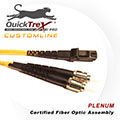 20 meter MT-RJ to ST, 9/125, Singlemode Duplex Patch Cable - Plenum Rated - USA CustomLine by QuickTreX®