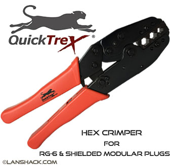 QuickTreX® Hex Crimper for RG-6 Co-ax and QuickTrex™ Shielded Plugs