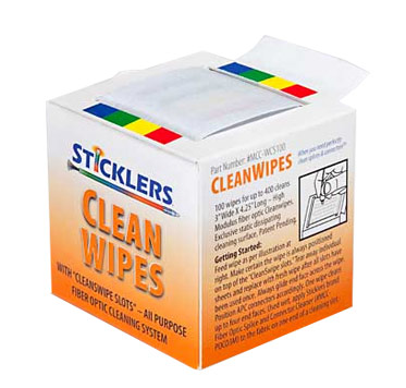 Sticklers™ CleanWipes™ 400 Fiber Optic Cleaning Tool