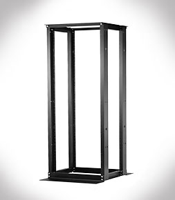 4-Post Rack - 84H x 20.25W x 24-30D - Black