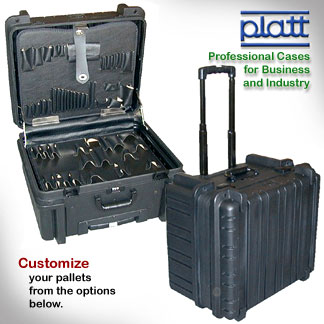 Rotational Molded Wheeled Tool Case - 9 inch depth