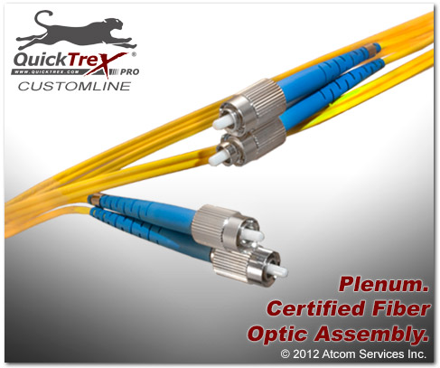 2 meter FC to FC Singlemode Duplex Patch Cable - CustomLine