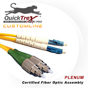 1 meter FC to LC Singlemode Duplex Patch Cable - CustomLine