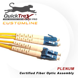 7 meter LC to LC, 9/125, Singlemode Duplex Patch Cable - Plenum Rated - USA CustomLine by QuickTreX®