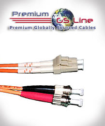 1 meter OM1 LC to ST Multimode Duplex Patch Cable - PGS Line