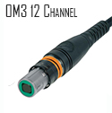 Custom 12 Channel OpticalCON MTP Field Tactical Assembly, Multimode OM3 50/125, by QuickTreX