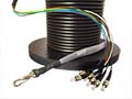4 Strand CustomLine Outdoor (OSP) Gel Filled Multimode 10- GIG 50/125 OM3 Pre-Terminated Fiber Optic Assembly by QuickTreX®