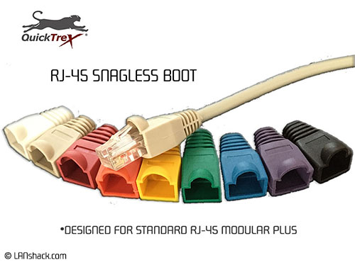 QuickTreX® RJ-45 Snagless Boot - Bag of 100