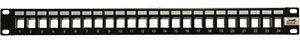 QuickTreX® 24 Port Shielded Keystone Blank Patch Panel (1 RU)