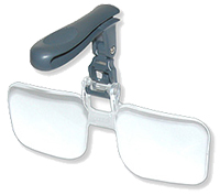 Carson VisorMag™ Clip-on, Flip-up, Visor Magnifying Glasses