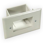 Easy Mount Recessed Cable Plate