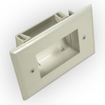 Low Profile Easy Mount Recessed Cable Plate