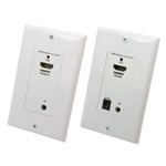 HDMI® Remote Control IR Extender Wall Plate 1080p - Up to 150Ft (50m)