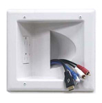 Recessed Media Wall Plate with Angled Duplex Receptacle