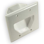 Recessed Wall Plate for 2 Gang Boxes