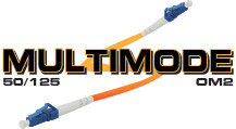 OM2 50/125 Multimode Fiber Optic Patch Cables Custom made in USA. Available in 6 Colors!