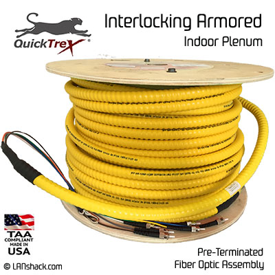 24 Strand Indoor Plenum Singlemode Interlock Armor Cable