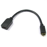 8 inch HDMI-Female to Mini-Male C Cable High Speed with Ethernet