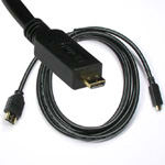 10 Ft HDMI® Male to Micro-Male D Cable High Speed w/Ethernet