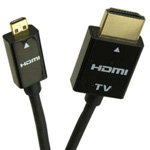 10 Ft HDMI® Male to Micro D RedMere Slim Cable w/Ethernet
